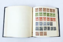 British used album starting with many different (plus extras) one penny red plate number and a
