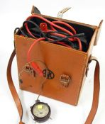 Universal avometer model 7 in leather carrying case