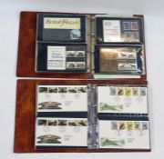 Two albums of GB presentation packs and some First Day Covers