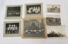 Quantity of Marlborough and Hayling School team photos to include 1948 house rugby, hockey and