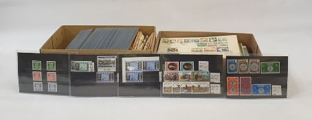 Two boxes pounds shillings and pence £.S.d. stamp packs, FDC'S Rhodesia and Nysaland 1953 set
