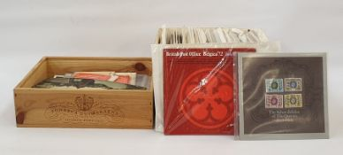 Two boxes of loose stamps and quantity of First Day Covers, Post Office souvenir packs including