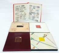 Royal Mail special stamps year books1985 to 1989, 1984, 1988 and stock bookwith mint decimal