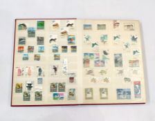 Stock book with large collection of stamps from China