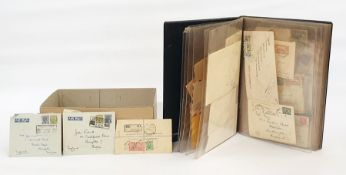 Interesting mostly commercial Commonwealth coversincluding much Gibraltar with WWII censored,