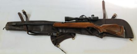 A Webley tracker air rifle with Hawke sight