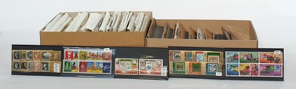 Two boxes ofthematics, one box of animal covers and one box of mixed assorted stamps ( 2 boxes)
