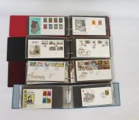 Crate of cover albums of First Day Covers and PHQ cards, mainly GB and two stock booksof modern