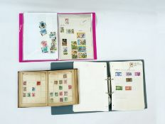 Box including album of presentation packs, part filled old Lincoln stamp albumand much more