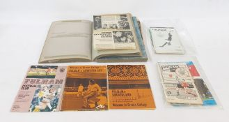 Two scrapbooks of boxing ephemeracirca 1960's, and quantity of 1960's and 1970's Fulham football