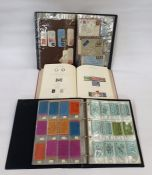 Three albums, one with decimal books of stamps, one of miscellaneous covers and printed Windsor