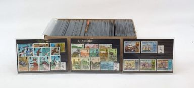 Box of approximately 100-200 stock cardswith mint and used Commonwealth Victoria to Queen Elizabeth