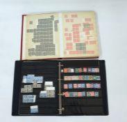 Five stock books of old stampsto Queen Elizabeth II including 13 poor 2d blues (as is), Queen