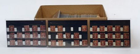 Box of mint and used stamps on stock cards from Queen Victoria to Queen Elizabeth II decimals with