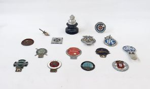 A quantity of car badges, to include ACP, AA, British field sport society, Southsea motor company