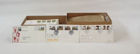 Box of British First Day Coversand another box of miscellaneous covers(2 boxes)