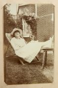 Victorian photograph album, portraits, 4 other albums and loose photographs