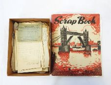 Scrap book containing various tickets for overseas trips to include Columbo, Ceylon and Penang etc.