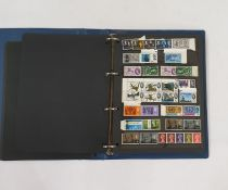 An album of stamps, mint and used, many QV officials, irregular block of 1948 and one of 10,