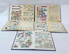 Five stock books of mainly used stamps from Norway, Portugal, Germany and Switzerland