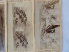 Quantity glass lantern slides and quantity of a stereoscopic viewer black and white photographs of