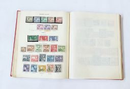 Stanley Gibbons printed King George VI album with many spaces filled