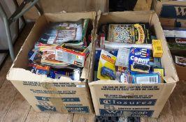 Large quantity of packaged and boxed Matchbox cars, Corgi, Burago etc. and British Diecast magazines