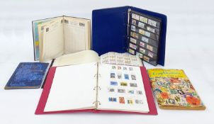 Box of stamps on sheets and albums(6)