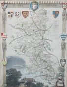 Coloured map of Staffordshire, and two maps Buckinghamshire (3)