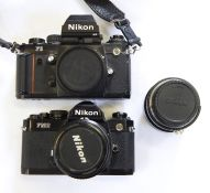 Nikon FM2 camerawith lens and a Nikon F3 camerawith lens (unattached) (3)