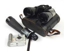 Lieberman & Gortz 25x52 monocular, various binocularsandother camera items (1 box) Condition