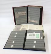 Three stock books of mint Queen Elizabeth II decimal stamps, mint George V and George VI, and