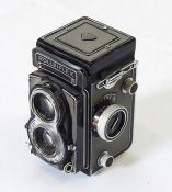 Rolleiflex grey Model T camera (serial number T2118493)
