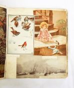 Assorted ephemera to include scrapbook, folder of assorted prints etc, together with various