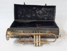 """A Besson & Co prototype """"Cornet, with three valves"""" stamped """"British plated class A, new creation"""