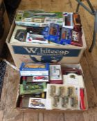 Quantity of boxed and packaged Yesteryear, Burago, Airfix boxes ( 2 boxes)