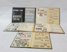 Five stock books of used Canada, Malta, Guernsey, Rhodesia air mail stamps