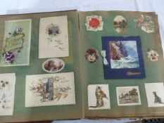 Two scrap albums, Christmas cards, photographs, newspaper scraps, post cards, cuttings, many local