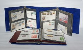 Three albums of themed coversincluding rail and ships and one album of GB First Day Covers(4)