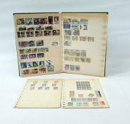 Box containing loose stamps in boxes and stock sheets, mainly modern including Queen Elizabeth II