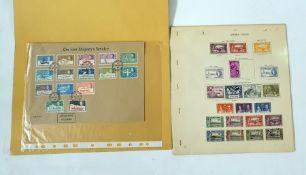 Folders and envelope pages in packets of Tristan da Cuna, Sierra Leone, Leeward Islands, interesting
