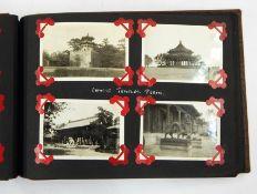 Photo album containing 1930s views of Malta, North China, Suez Canal, Peking, Bombay, The Summer