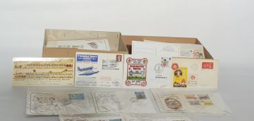 Two boxes of coversincluding Isle of Man First Day Covers and other miscellaneous, about 150 (2
