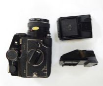 Mamiya 645 cameratogether with flash and another folding accessory (3)