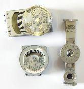 F Leitz Wetzlar metal light meter(boxed), a Leica light meterno.45449 and a Leica light meter no.
