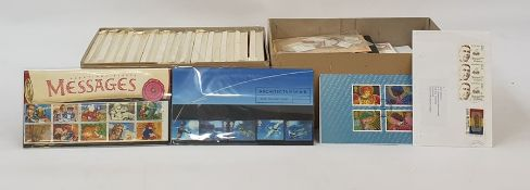 14 packets of PHQ cardsand a box of miscellaneous stamps and decimal presentation packs(2 boxes)