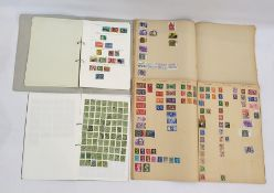 Interesting accumulation of stamps in two scrap books and Lincoln album, approximately 150 Victorian