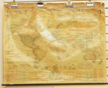 A Bacon's new chart of the world by G.W. Bacon FRGS, 94 x 120cm