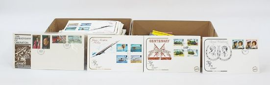 Quantity of Jersey First Day Covers, Guernsey stamp booklets and presentation packsand some