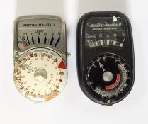 Weston Master V light metermodel S4615 and a Weston Master II universal exposure meter(2)